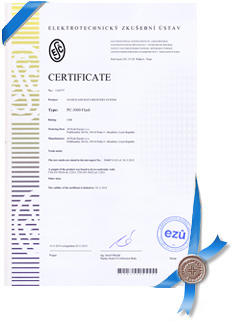 EKO-KOM Certificate for PC-3000